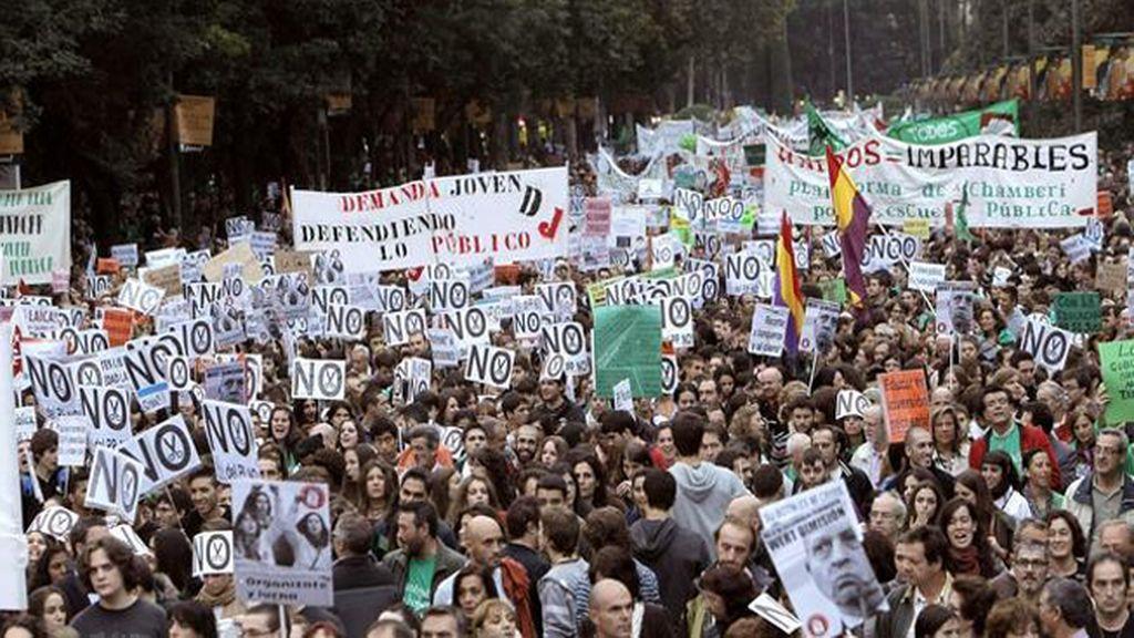 El sindicato de estudiantes convoca tres jornadas de huelga general