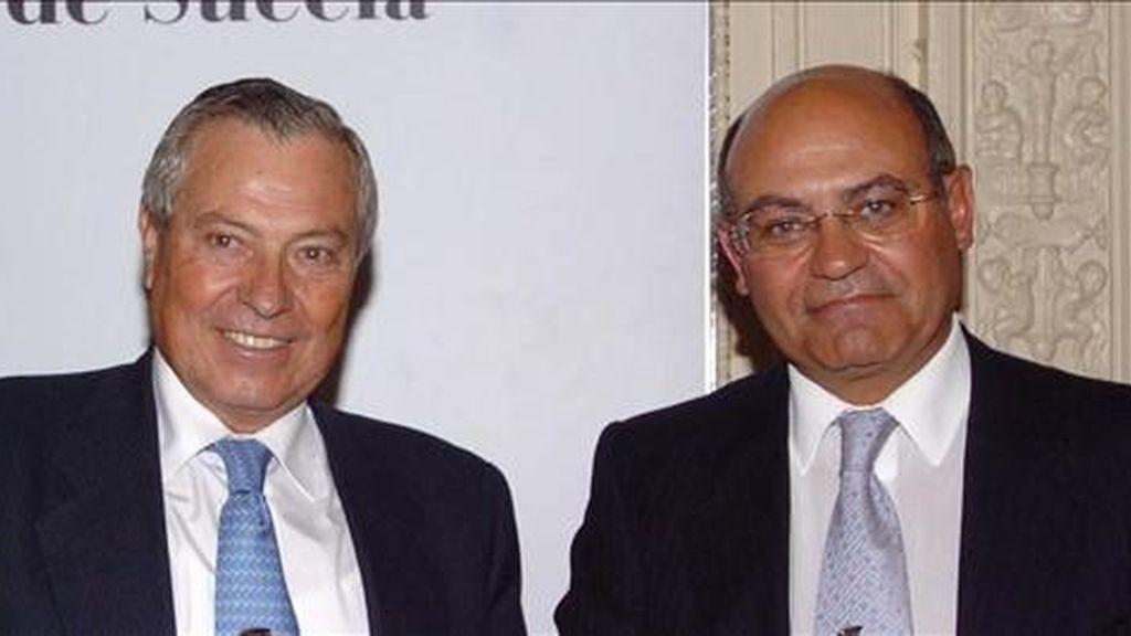 Gonzalo Pascual Arias (i) y Gerardo Díaz Ferrán, dueños del Grupo Marsans. EFE/Archivo