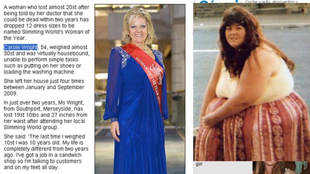 Carole Wright fue objeto de burlas por su sobrepeso desde que era muy joven.