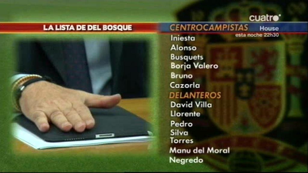 La lista de Del Bosque