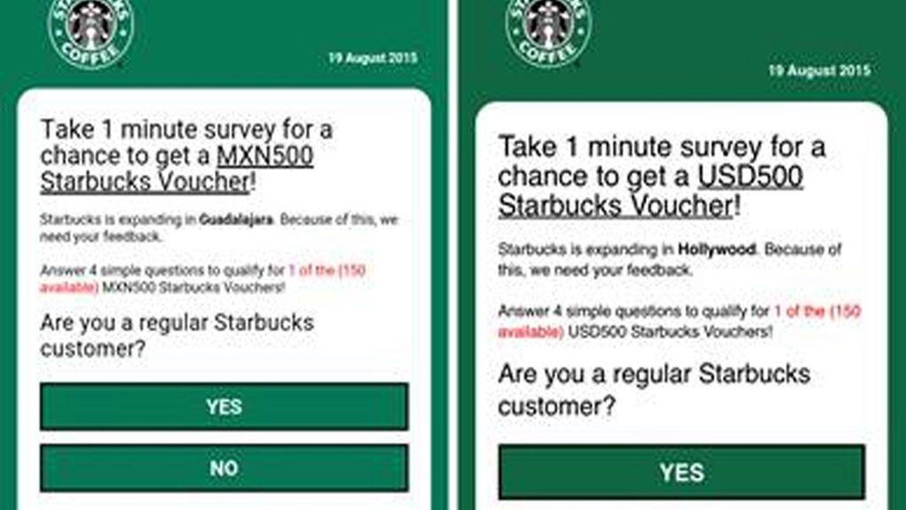 La estafa por WhatsApp que te promete dinero en Starbucks
