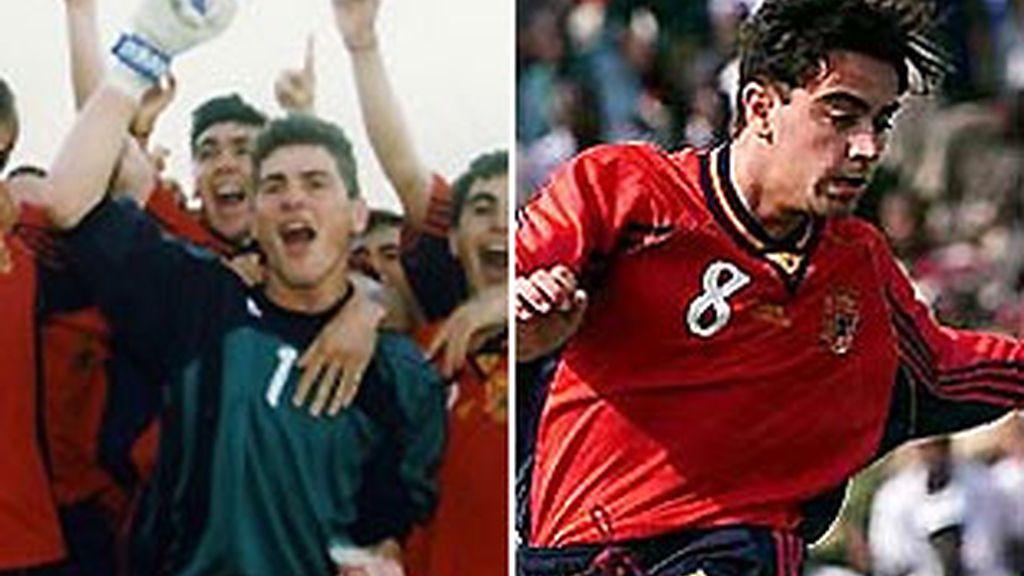Casillas y Xavi, hace diez años. FOTOS: Archivo.