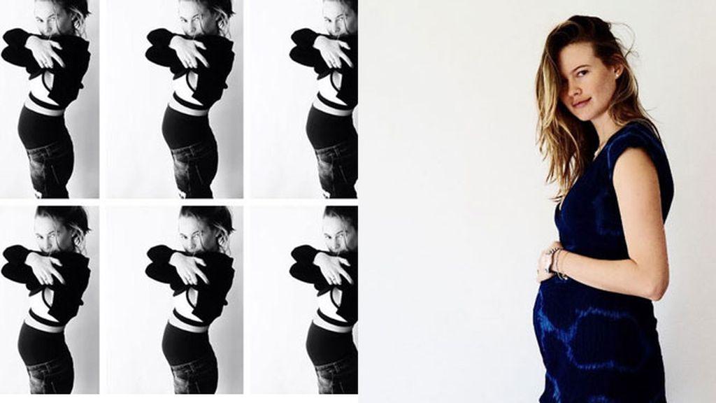 Behati Prisnloo, obsesión por collages y fotos de perfil premamá