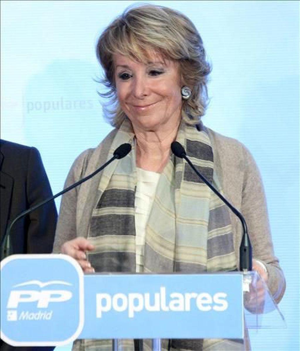 Imagen de archivo de la presidenta de la Comunidad de Madrid, Esperanza Aguirre