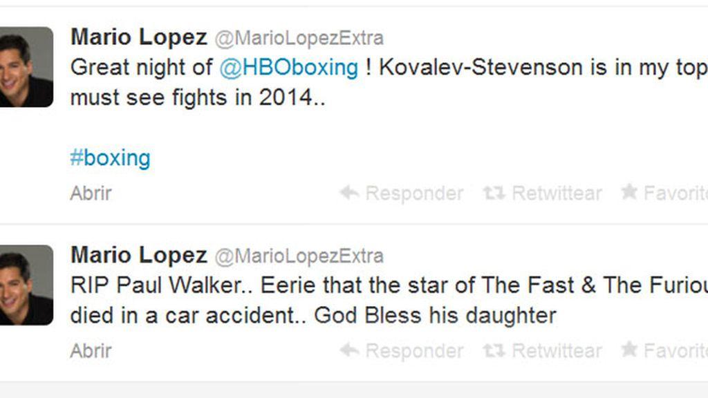 """Mario López: """"La estrella de A todo gas muere en un accidente de coche"""""""