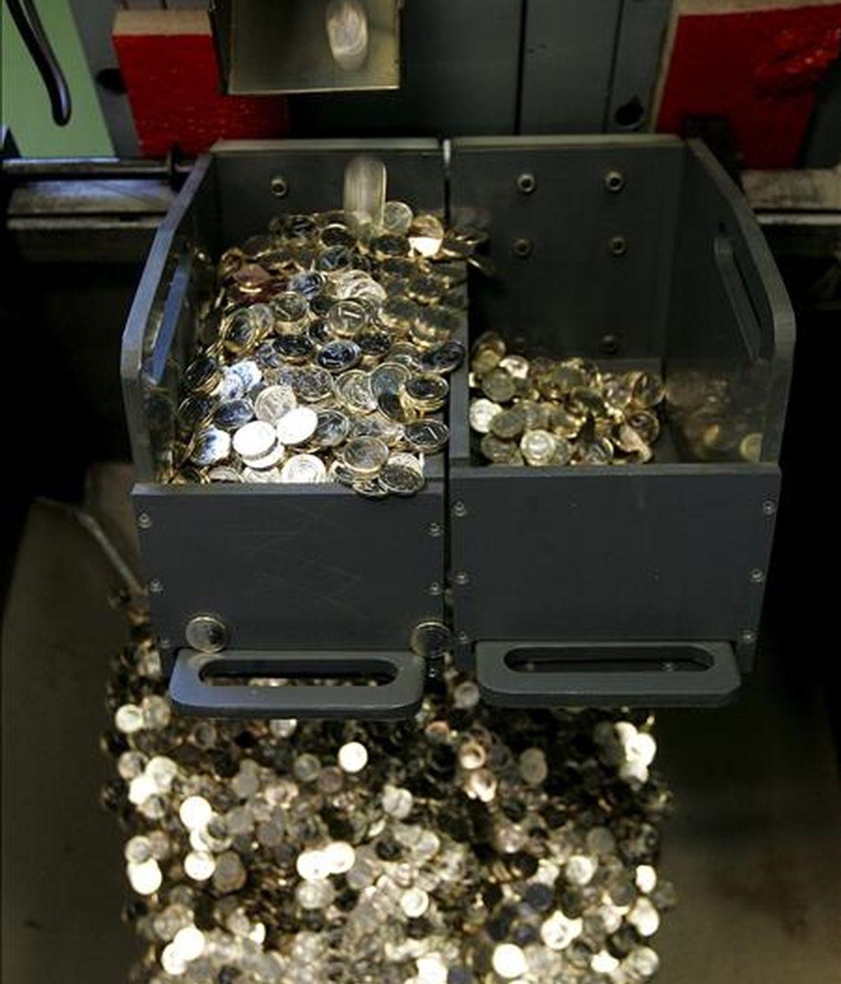 Fabricación de monedas de un euro. EFE/Archivo