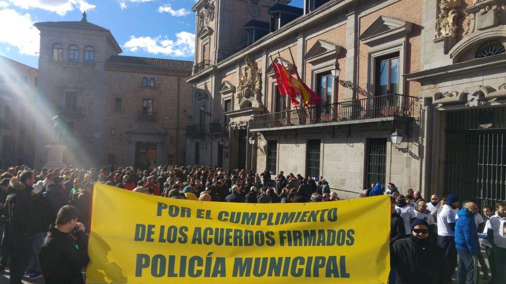 Manifestación de la Policía Municipal de Madrid