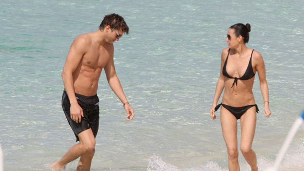 Demi Moore, al sol en Bahamas