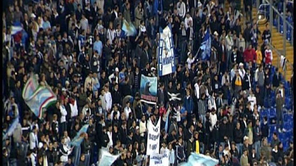 Lazio-Villarreal, en imágenes
