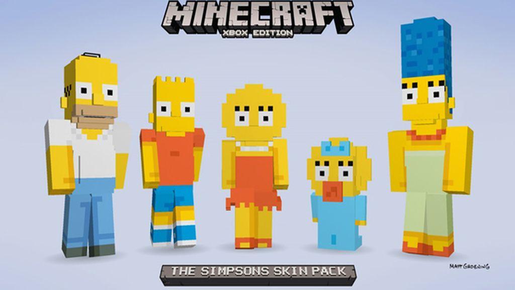 los simpson, minecraft, vjuegos