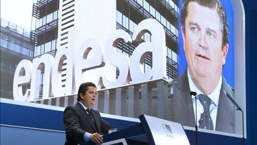 El presidente de Endesa, Borja Prado, durante la Junta General de Accionistas de esta compañía. EFE