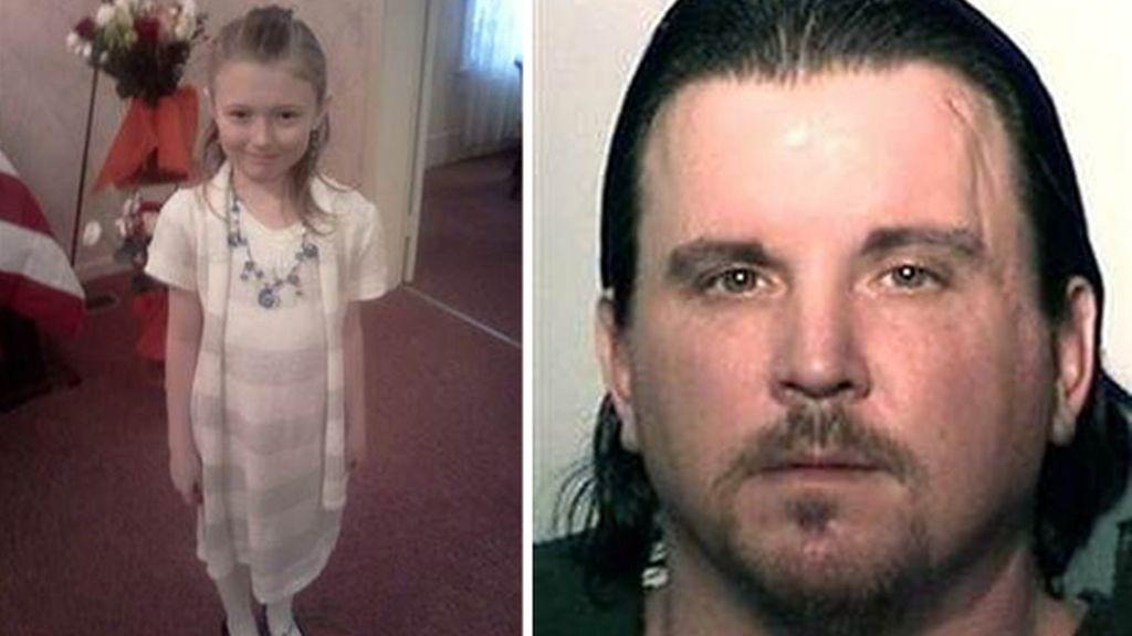 Plumadore fue detenido y permanerá en prisión sin fianza hasta que se celebre el juicio por el asesinato de la niña de nueve años, Aliahna (a la izq).