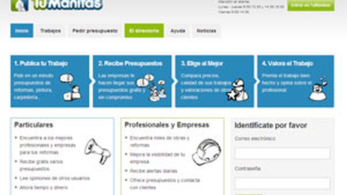 Imagen de la página web.