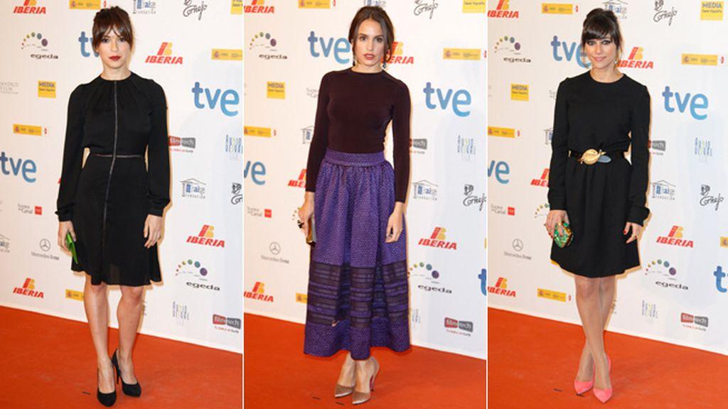 Verónica Sánchez, Verónica Echegui y Marian Hernández eligieron looks discretos pero elegantes