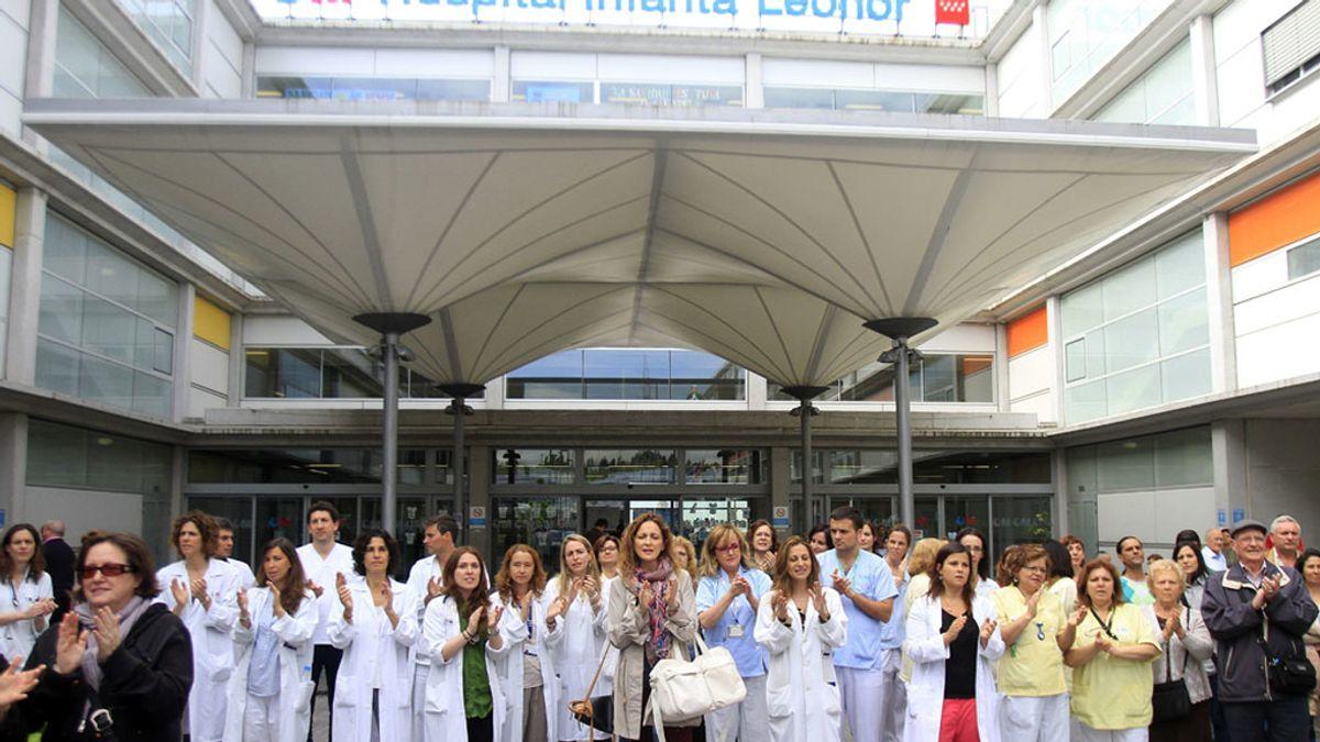 Trabajadores del Hospital Infanta Leonor de Madrid protestan contra los recortes