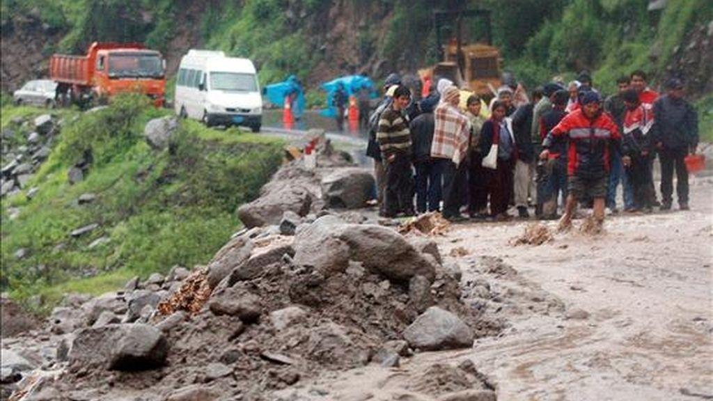 Colombia entró el pasado marzo en la primera temporada de lluvias del año, que ha sido intensa en 23 de los 32 departamentos colombianos. EFE/Archivo