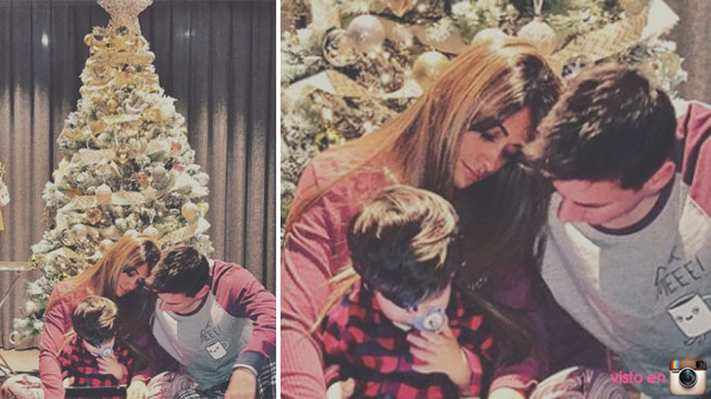 Antonella Rocuzzo y su 'treefie' presumiendo de árbol y de familia