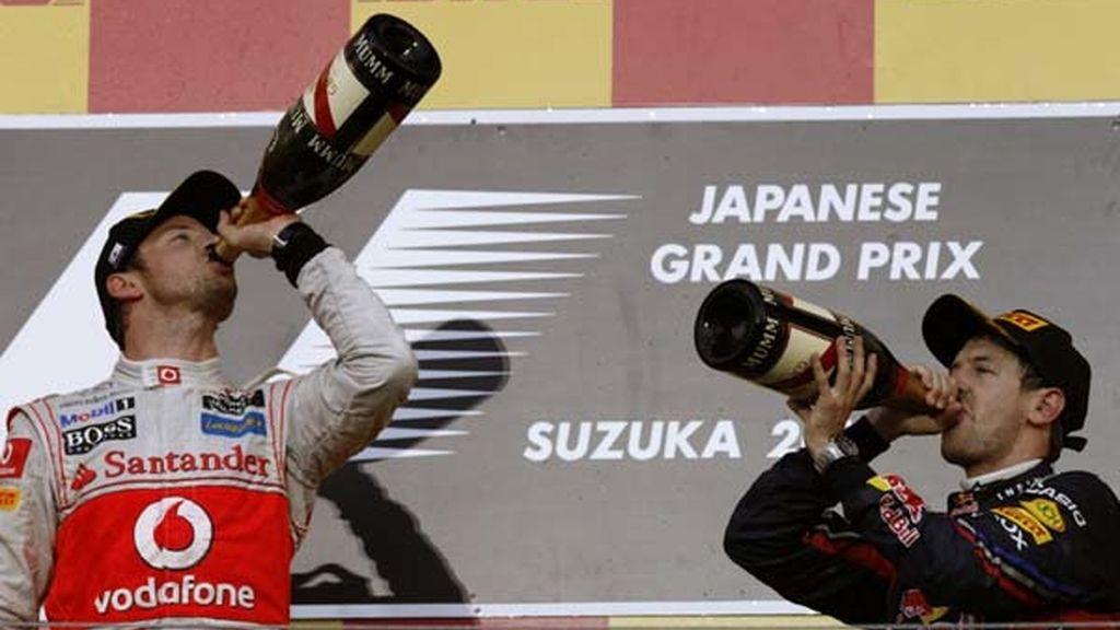 Button y Vettel celebrandolo