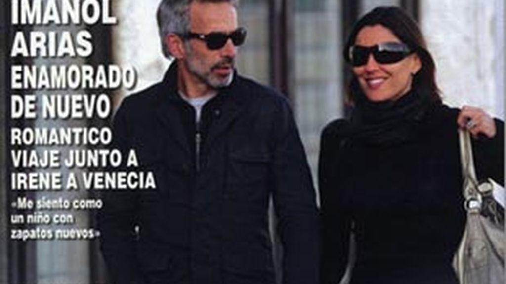 Imanol Arias e Irene en Venecia