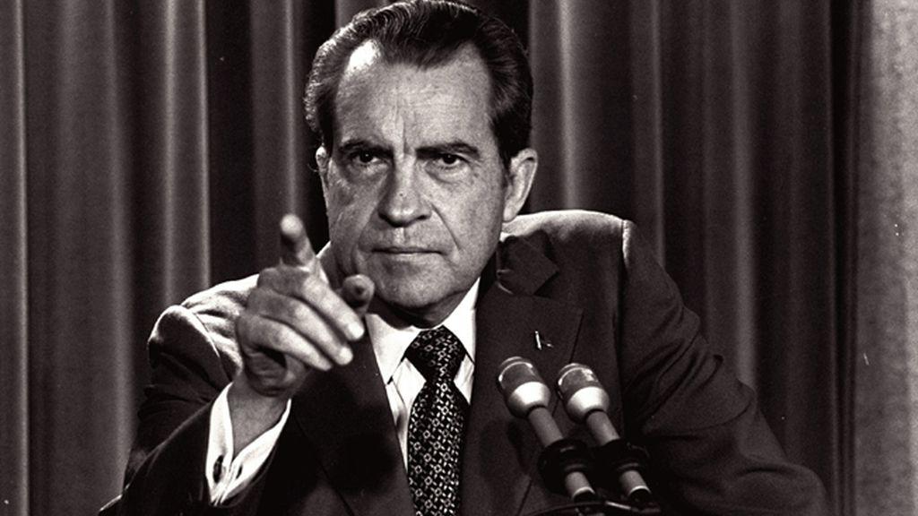 El presidente de los Estados Unidos, Richard Nixon
