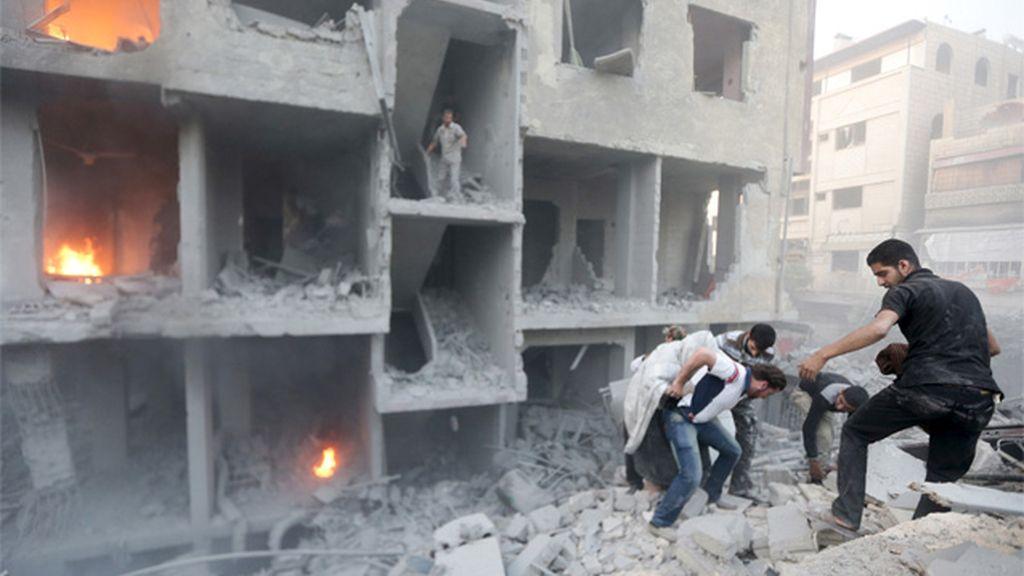 La guerra civil ha estado siempre presente en el conflicto sirio
