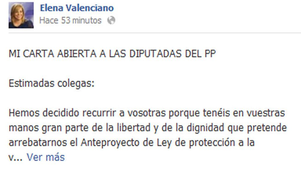 """Valenciano a las diputadas del PP: """"Os necesitamos"""""""