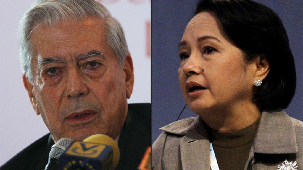 Mario Vargas Llosa y Gloria Macapagal-Arroyo