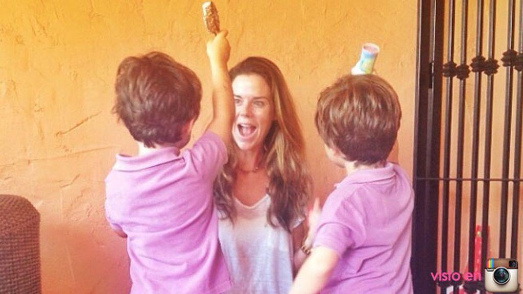 Es mamá de tres niños y no descarta tener más: ¡quiere la niña!