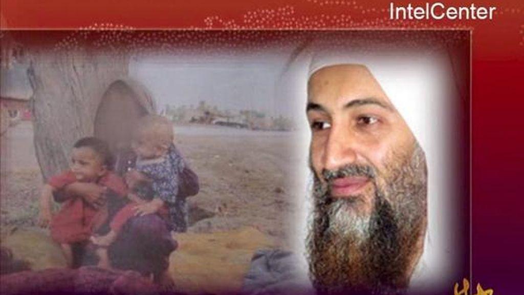 Imagen de vídeo facilitada por IntelCenter que muestra al líder del grupo terrorista Al Qaeda, Osama bin Laden, en un vídeo distribuido en los foros yihaidistas ayer. EFE/INTELCENTER/HO