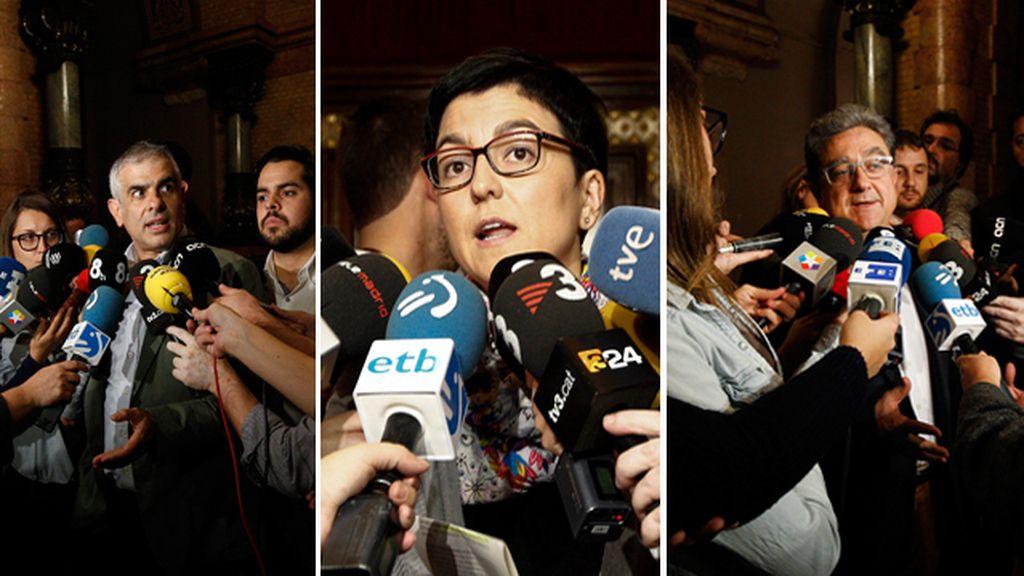 Ciudadanos, PPC y PSC intentan frenar la tramitación de la declaración independentista