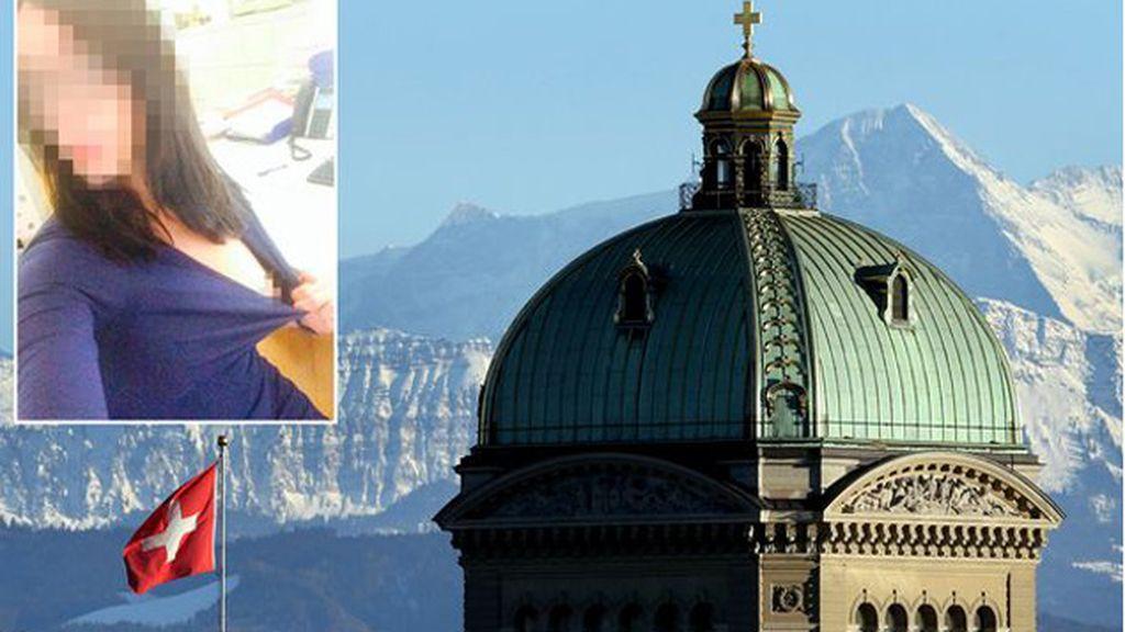 Una trabajadora del parlamento suizo publica una foto desnuda en Twitter