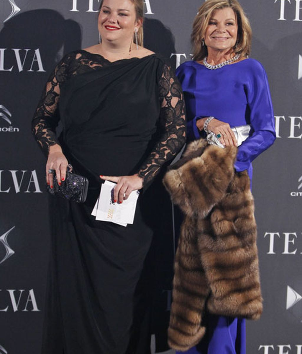 Caritina Goyanes junto a Cari Lapique