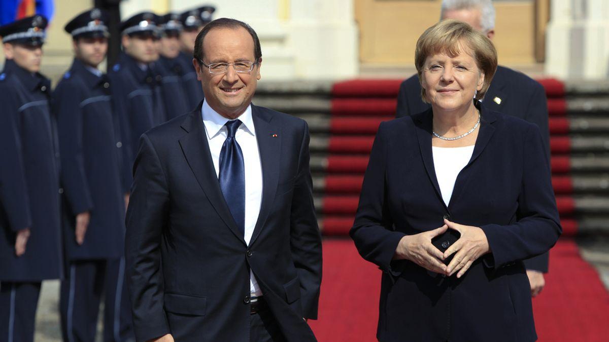 Angela Merkel y François Hollande