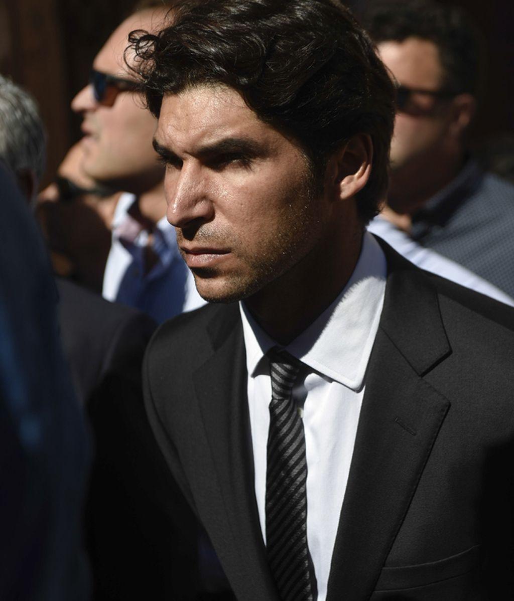 Cayetano Rivera, en el funeral de Víctor Barrio