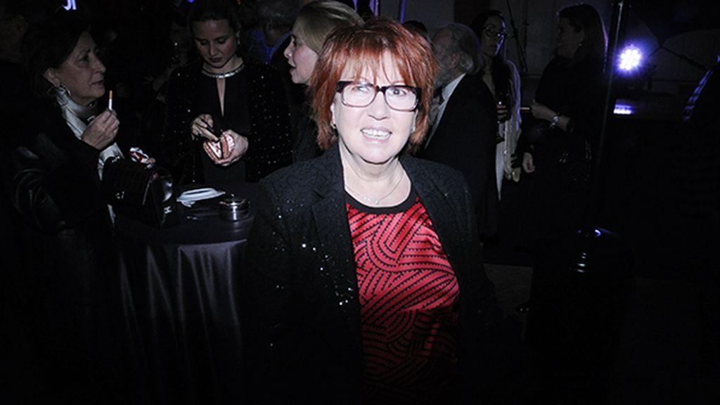 La periodista Rosa Villacastín en el cocktail previo a la entrega de premios