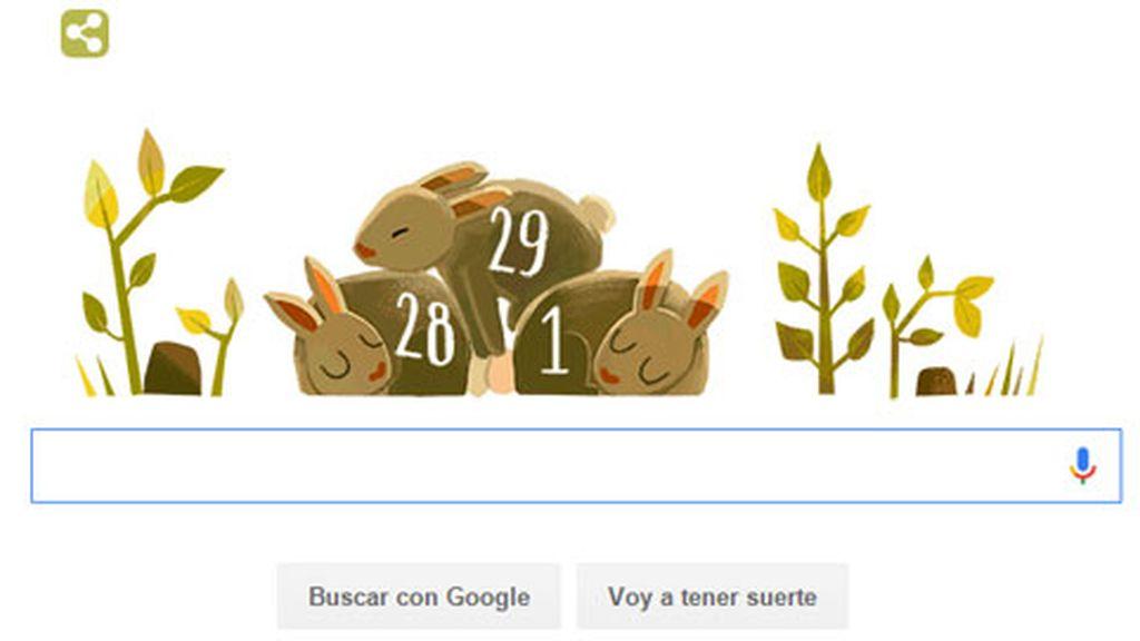 doodle Google, año bisiesto