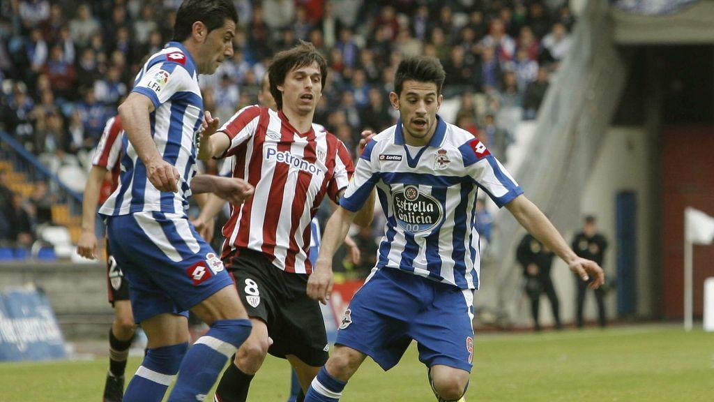 Deportivo de La Coruña contra el Athletic. Foto: EFE