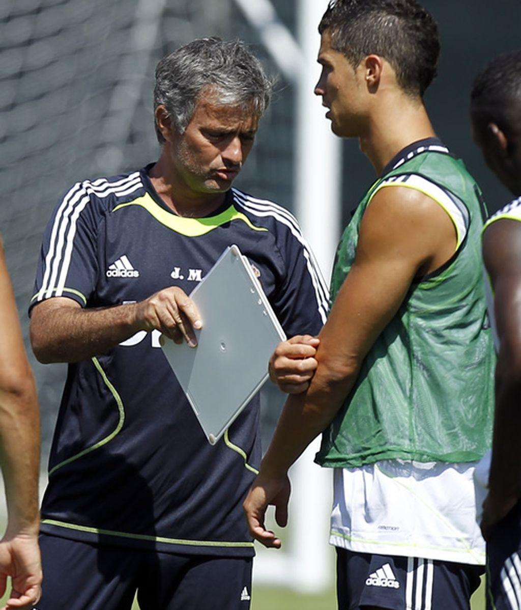 Recibiendo instrucciones de Mourinho