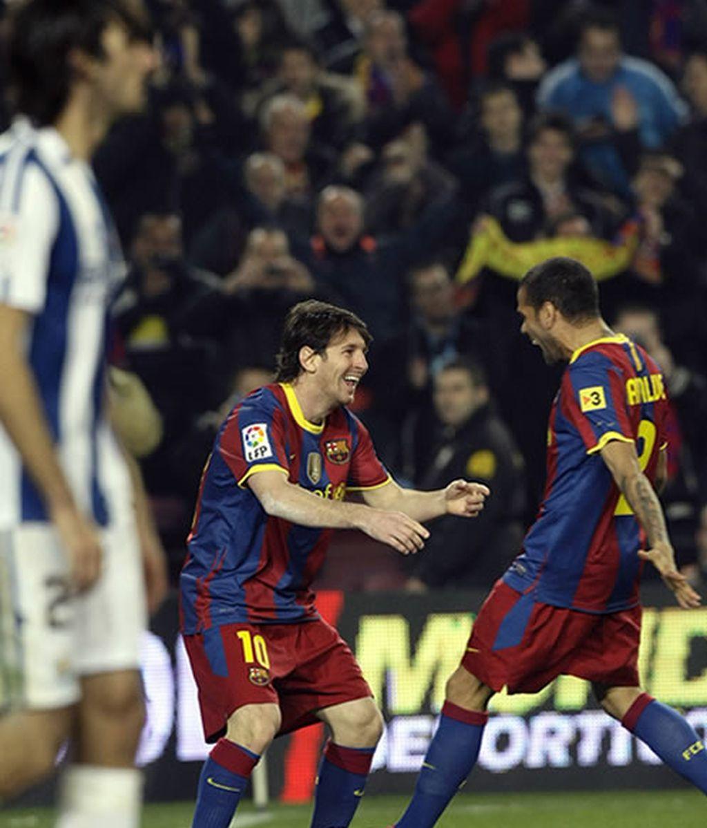 El Barcelona arrolla a la Real y va camino de pulverizar todos los récords