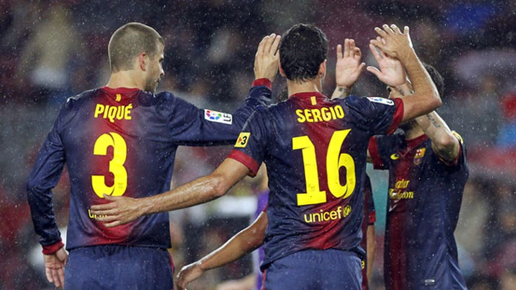 Tito y Abidal levantan la Liga