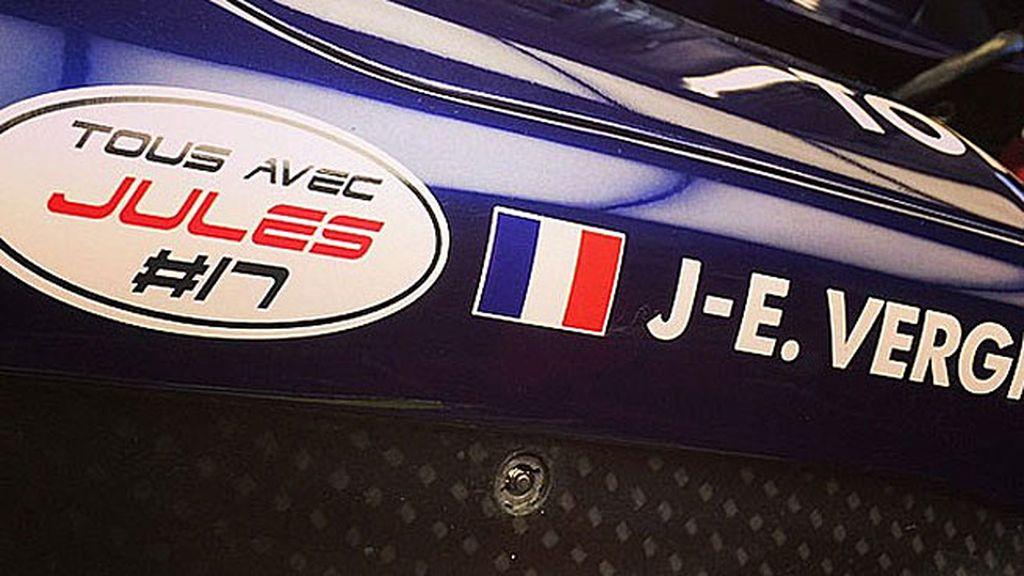 Así lucirán el nombre del francés en el circuito de Sochi