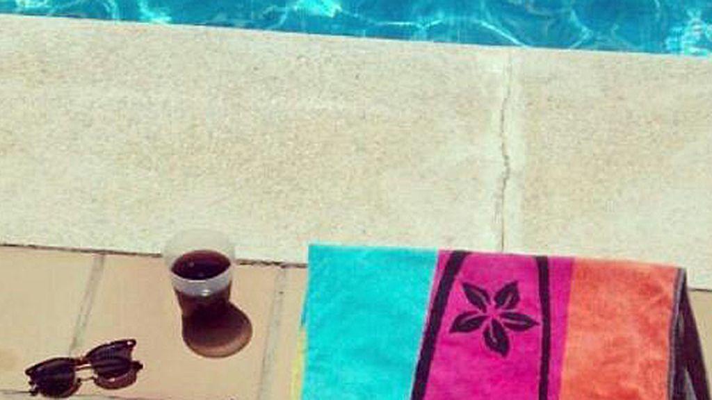 El 'punto d' de Patricia Sánchez es su piscina hasta el atardecer