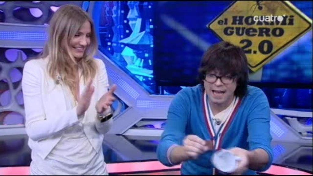 Cameron Díaz alucina con Luis Piedrahita