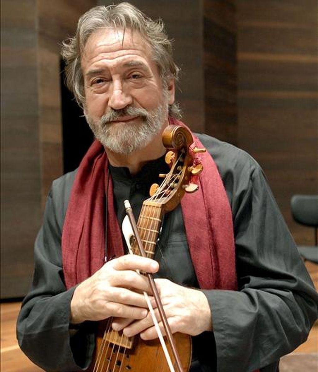El violonchelista y musicólogo Jordi Savall. EFE/Archivo
