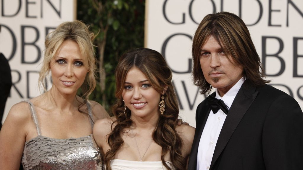 Billy Ray Cyrus, Tish Cyrus y Miley Cyrus