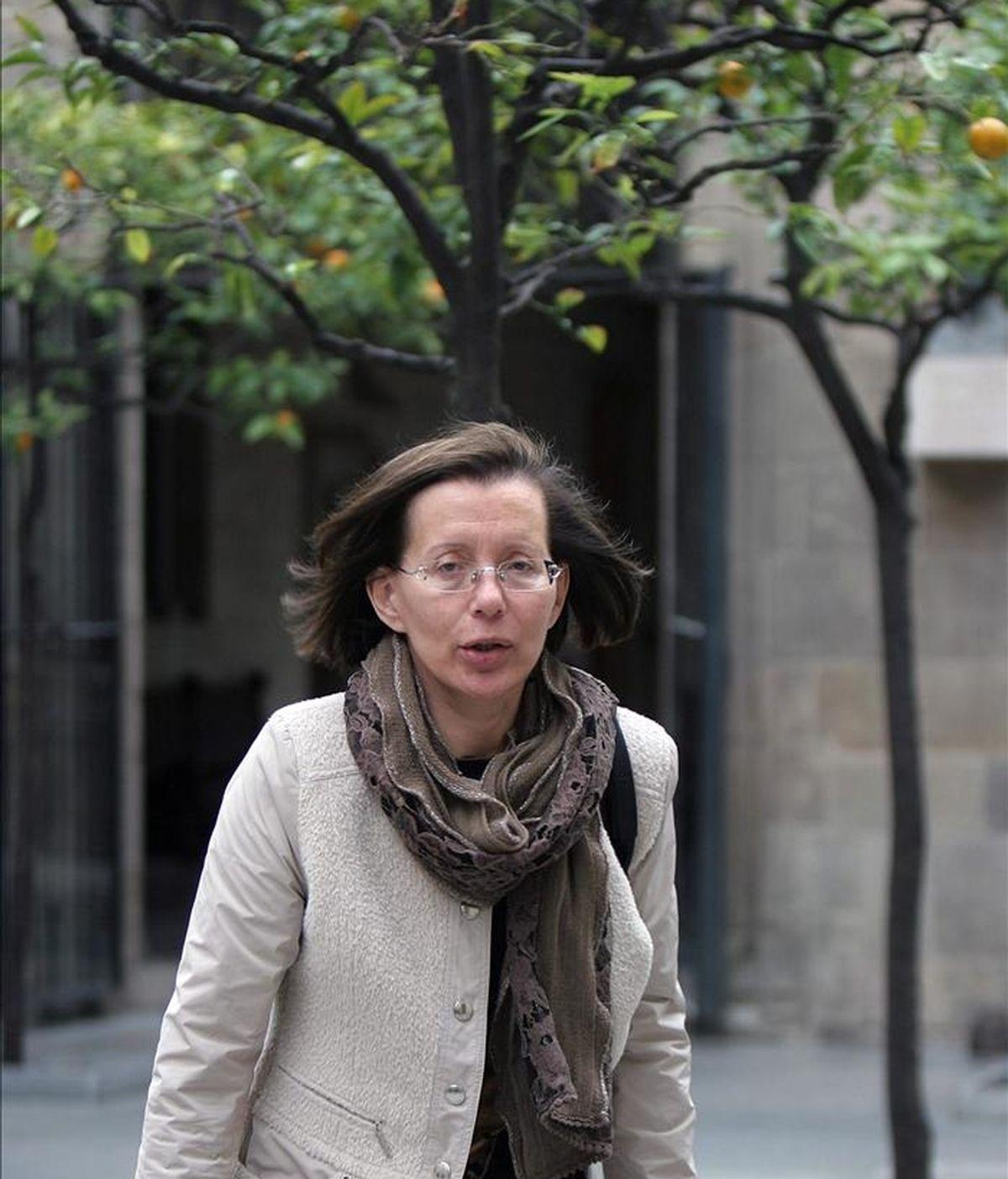 La ex consellera de Justicia Montserrat Tura ha decidido disputar al actual alcalde de Barcelona, Jordi Hereu, la candidatura socialista por Barcelona en unas primarias, según han asegurado a Efe fuentes socialistas. EFE/Archivo