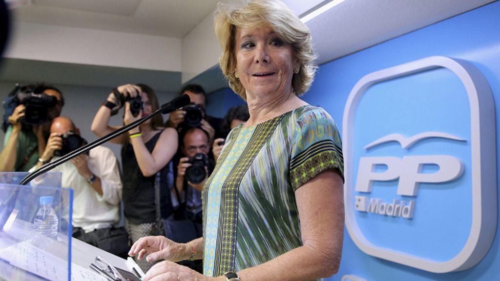 Rueda de prensa de Esperanza Aguirre