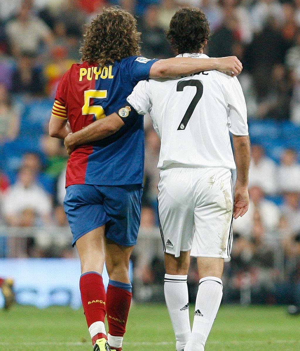 Pujol y Raúl en la Liga 2009