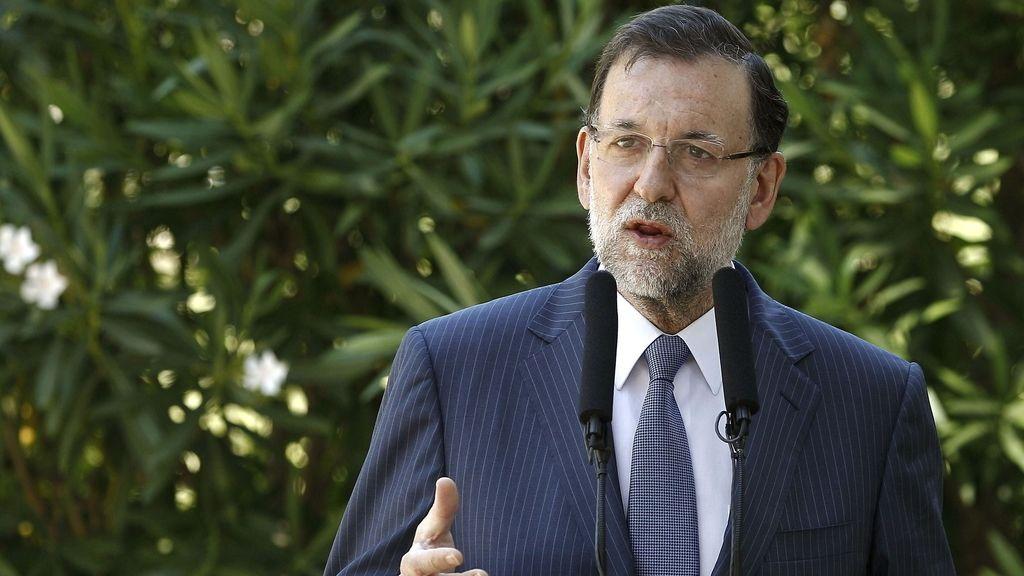 Rajoy comparece ante los medios tras despachar con el Rey en Marivent