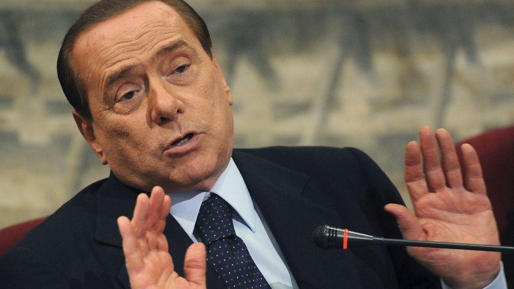 Silvio Berlusconi, durante la presentación de un libro de un miembro del Senado italiano